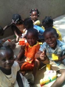 The children at Tabitha House are excited about Legos given to them by their FaithWorks! friends!